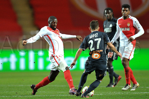 26.11.2016. Monaco, France. French League 1 football. Monaco versus Marseille.  TIEMOUE BAKAYOKO (asm)