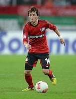 FUSSBALL   1. BUNDESLIGA  SAISON 2012/2013   5. Spieltag FC Augsburg - Bayer 04 Leverkusen           26.09.2012 Hajime Hosogai (Bayer 04 Leverkusen)