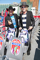 NEW YORK, NY - SEPTEMBER 26: Big And Rich honored at the Ride Of Fame with a permanent seat on it's top deck and ribbon-cutting ceremony in New York City on September 26, 2014. Credit: John Nacion/MediaPunch