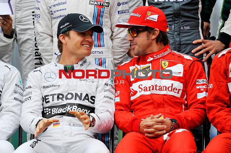 Nico Rosberg (GER), Mercedes GP - Fernando Alonso (ESP),  Scuderia Ferrari<br />  Foto &copy; nph / Mathis