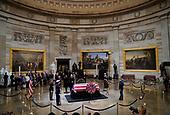 Former President George H. W. Bush lies in state in the U.S. Capitol Rotunda Monday, Dec. 3, 2018, in Washington. (AP Photo/Pablo Martinez Monsivais)