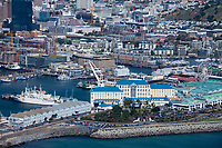 Victoria and Alfred Waterfront, Cape Town, South Africa, Aerial view.