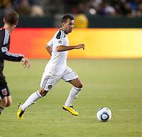 CARSON, CA – SEPTEMBER 18:  LA Galaxy midfielder Juninho (19) during a soccer match at Home Depot Center, September 18, 2010 in Carson California. Final score LA Galaxy 2, DC United 1.