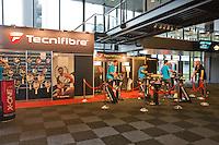 Februari 09, 2015, Netherlands, Rotterdam, Ahoy, ABN AMRO World Tennis Tournament, Tecnifibre Stand<br /> Photo: Tennisimages/Henk Koster