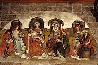 Europe/France/Auvergne/43/Haute-Loire/Le Puy-en-Velay: La cathédrale Notre-Dame-de-France ([Architecture romane]) - Détail d'une peinture arts libéraux