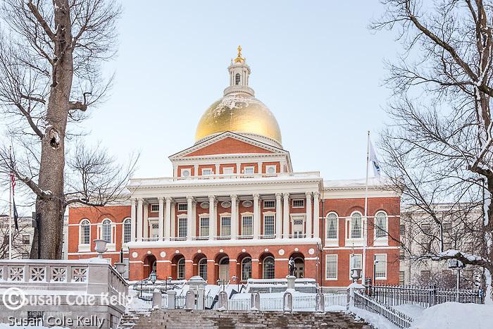 The Massachusetts State House on the Freedom Trail, Boston National Historical Park, Boston, Massachusetts, USA