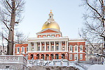 The Massachusetts State House on the Freedom Trail, Boston National Historical Park, Boston, Massachusetts, USA