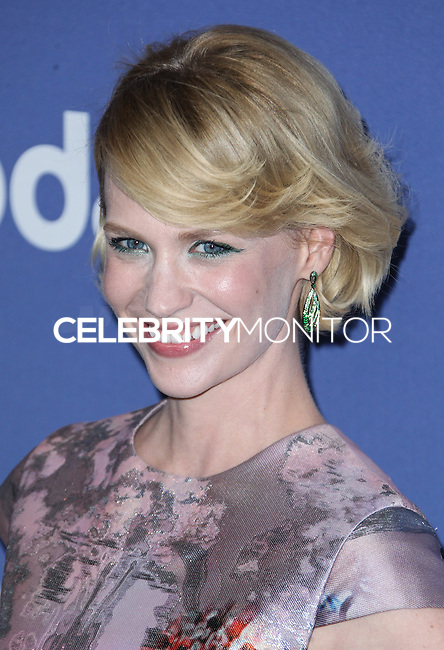 BEVERLY HILLS, CA- JUNE 12: January Jones arrives at the Women In Film's 2013 Crystal + Lucy Awards at The Beverly Hilton Hotel on June 12, 2013 in Beverly Hills, California. (Photo by Celebrity Monitor)