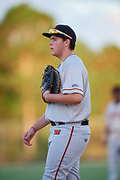 Kevin Martin during the WWBA World Championship at the Roger Dean Complex on October 18, 2018 in Jupiter, Florida.  Kevin Martin is a right handed pitcher from Miami, Florida who attends St. Brendan High School and is committed to Florida.  (Mike Janes/Four Seam Images)