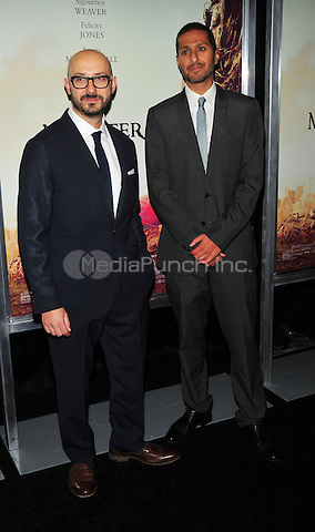 New York, NY: December 7: Abhijay prakash, Pater Kujawski attends 'A Monster Calls' New York Premiere at AMC Loews Lincoln Square 13 theater on December 7, 2016 in New York City.@John Palmer / Media Punch