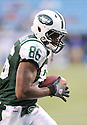 JEFF CUMBERLAND, of the New York Jets in action during the Jets game against the Carolina Panthers  at Bank of America Stadium in Charlotte, N.C.  on August 21, 2010.  The Jets beat the Panthters 9-3 in the second week of preseason games...