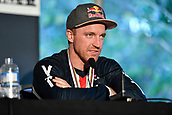 10th September 2017, Smithfield Forest, Cairns, Australia; UCI Mountain Bike World Championships;  Aaron Gwinn (USA) riding for The YT Mob at the post race press conference for the elite mens downhill race;