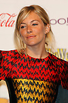 UK actress Sienna Miller receives the Supporting actress of the Year Award at the 2009 ShoWest Awards in Las Vegas, California 2 April 2009. The closing night ceremony for the 2009 ShoWest features top film industry talent at the final night banquet and awards ceremony.