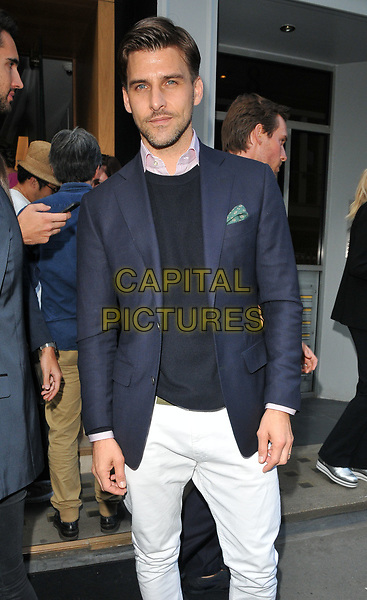 Johannes Huebl at the LFW (Men's) s/s 2018 Aston Martin x Hogan cocktail party, Aston Martin, Dover Street, London, England, UK, on Sunday 11 June 2017.<br /> CAP/CAN<br /> &copy;CAN/Capital Pictures