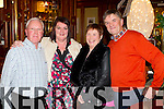 Staff of Cadburys, Rathmore enjoying their christmas party in the Killarney Oaks Hotel on Friday night, from left: Denis O'Mahony, Hannah Herlihy, Eileen O'Mahony and Frankie Herlihy.