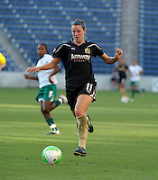 FC Gold Pride midfielder Kiki Bosio (11) dribbles the ball.  The FC Gold Pride defeated the Chicago Red Stars 3-2 at Toyota Park in Bridgeview, IL on August 22, 2010