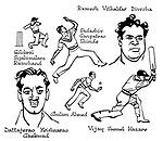 Notes for an Indian Summer ; Indian cricket tour , 1952<br /> Indian team ; Golobrai Sipahimalan Ramchand , Sadashiv Ganpatrao Shinde , Ramesh Vithaldas Divecha , <br /> Dattajerao Krishnarac Gaekwad , Ghulam Ahmed , Vijay Samuel Hazare