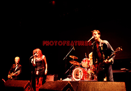 X 1983 Billy Zoom, Exene Cervenka and John Doe..© Chris Walter..