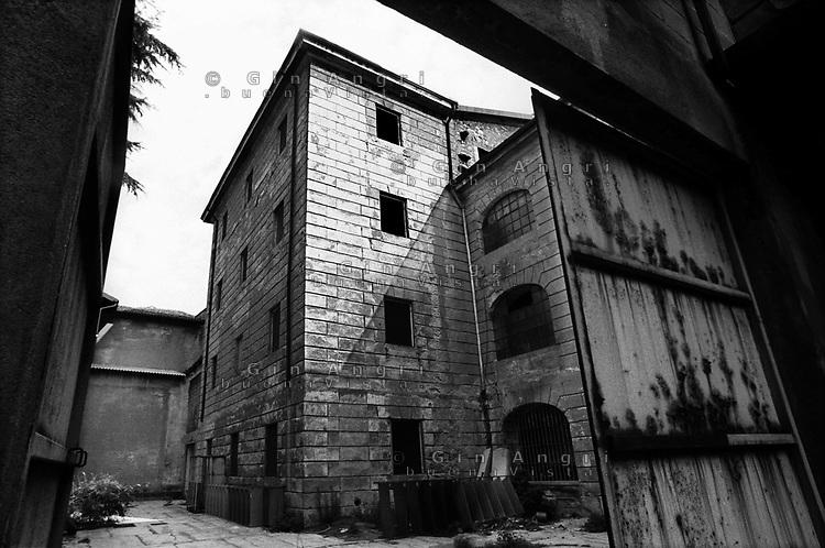 il cortile interno dell'ex carcere san Donnino di Como