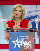 Laura Ingraham of Fox News speaks at the Conservative Political Action Conference (CPAC) at the Gaylord National Resort and Convention Center in National Harbor, Maryland on Friday, February 23, 2018.<br /> Credit: Ron Sachs / CNP