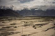 The high altitude cold desert of Nurba Valley in Ladakh, India.