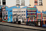 USA, California, San Francisco, a painted wall in an alley near the Beat Museum, North Beach