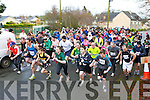 The Runners sprint off at the start of the Currow 5km on Sunday