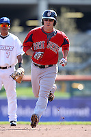 April 14, 2010:  Second Baseman Tug Hulett of the Pawtucket Red Sox rounds the bases after hitting a home run during a game at Coca-Cola Field in Buffalo, New York.  Pawtucket is the Triple-A International League affiliate of the Boston Red Sox.  Photo By Mike Janes/Four Seam Images