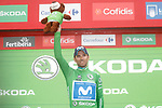 Alejandro Valvede (ESP) Movistar Team retains the Green Jersey at the end of Stage 17 of the La Vuelta 2018, running 157km from Getxo to Balc&oacute;n de Bizkaia, Spain. 12th September 2018.                   <br /> Picture: Unipublic/Photogomezsport | Cyclefile<br /> <br /> <br /> All photos usage must carry mandatory copyright credit (&copy; Cyclefile | Unipublic/Photogomezsport)