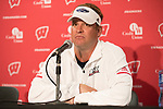 Florida Atlantic Owls Head Coach Lane Kifflin talks to the media during a post-game press conference after an NCAA College Football game against the Wisconsin Badgers Saturday, September 9, 2017, in Madison, Wis. The Badgers won 31-14. (Photo by David Stluka)