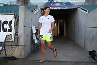 Cary, North Carolina  - Saturday August 05, 2017: Madeline Bauer prior to a regular season National Women's Soccer League (NWSL) match between the North Carolina Courage and the Seattle Reign FC at Sahlen's Stadium at WakeMed Soccer Park. The Courage won the game 1-0.