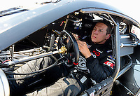 Sept. 22, 2012; Ennis, TX, USA: NHRA pro stock driver Dave Connolly during qualifying for the Fall Nationals at the Texas Motorplex. Mandatory Credit: Mark J. Rebilas-US PRESSWIRE