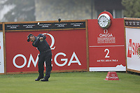 Thongchai Jaidee (THA) tees off the 2nd tee during Saturday's Round 3 of the 2017 Omega European Masters held at Golf Club Crans-Sur-Sierre, Crans Montana, Switzerland. 9th September 2017.<br /> Picture: Eoin Clarke | Golffile<br /> <br /> <br /> All photos usage must carry mandatory copyright credit (&copy; Golffile | Eoin Clarke)