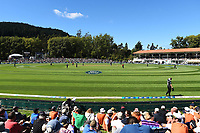 General view during the 4th ODI Blackcaps v England. University Oval, Dunedin, New Zealand. Wednesday 7 March 2018. ©Copyright Photo: Chris Symes / www.photosport.nz