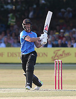 Michael Burgess hits 4 runs for Sussex during Essex Eagles vs Sussex Sharks, Vitality Blast T20 Cricket at The Cloudfm County Ground on 4th July 2018
