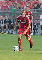 July 3, 2013: Toronto FC forward Jeremy Brockie #22 in action during an MLS game between Toronto FC and Montreal Impact at BMO Field in Toronto, Ontario Canada.<br /> The game ended in a 3-3 draw.