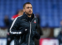 Bolton Wanderers' Andrew Taylor warming up before the match <br /> <br /> Photographer Andrew Kearns/CameraSport<br /> <br /> The EFL Sky Bet Championship - Bolton Wanderers v Sheffield Wednesday - Tuesday 12th March 2019 - University of Bolton Stadium - Bolton<br /> <br /> World Copyright © 2019 CameraSport. All rights reserved. 43 Linden Ave. Countesthorpe. Leicester. England. LE8 5PG - Tel: +44 (0) 116 277 4147 - admin@camerasport.com - www.camerasport.com
