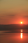 Israel, sunset over the Sea of Galilee