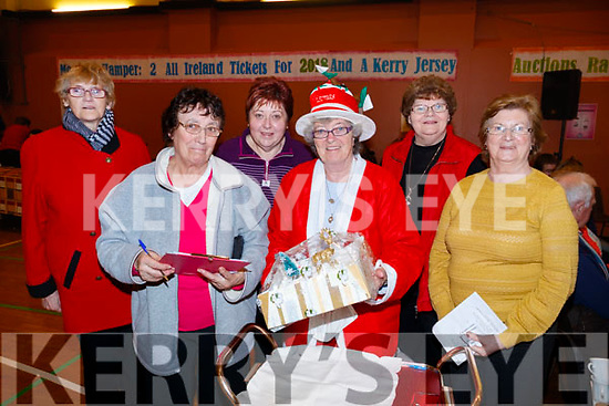 Pictured at St. John's Parish Bazaar, held at the KDYS, Tralee on Saturday night last were l-r: Peggy Leahy, Christine Regan, Noreen Ashe, Phyllis McLoughlin, Noreen Walsh and Bridget Guiney.