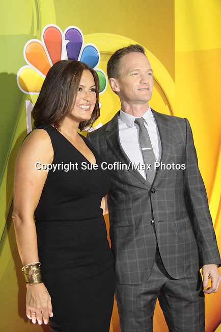 Mariska Hargitay & Neil Partick Harris - NBC Upfront at Radio City, New York City, New York on May 11, 2015 (Photos by Sue Coflin/Max Photos)
