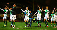 5th February 2020; Fir Park, Motherwell, North Lanarkshire, Scotland; Scottish Premiership Football, Motherwell versus Celtic; Celtic players celebrate with the fans after the match