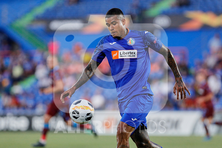 Kenedy of Getafe CF and during UEFA Europa League match between Getafe CF and Trabzonspor at Coliseum Alfonso Perez in Getafe, Spain. September 19, 2019. (ALTERPHOTOS/A. Perez Meca)