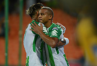 MEDELLÍN - COLOMBIA, 15-04-2018: Macnelly Torres de Atlético Nacional celebra después de anotar un gol a Rionegro Águilas durante partido por la fecha 15 de la Liga Águila I 2018 jugado en el estadio Atanasio Girardot de la ciudad de Medellín. / Macnelly Torres payer of Atletico Nacional celebrates after scoring a goal to Rionegro Aguilas during match for the date 15 of the Aguila League I 2018 at Atanasio Girardot stadium in Medellin city. Photo: VizzorImage/León Monsalve/Cont