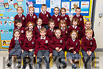 Enjoying their first day in Ms O'Connors class in Scoil Iosagain NS Ballybunion  on Monday