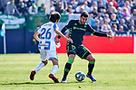 Bryan Gil of CD Leganes and Antonio Barragain of Betis Balompie during La Liga match between CD Leganes and Real Betis Balompie at Butarque Stadium in Leganes, Spain. February 16, 2020. (ALTERPHOTOS/A. Perez Meca)
