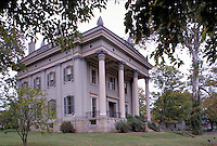 The James F. D. Lanier State Historic Site, a Greek Revival mansion designed by architect Francis Costigan and completed in 1844. Madison Indiana.