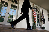Washington, DC - October 13, 2009 -- United States President Barack Obama walks to the podium in the Rose Garden of the White House to deliver remarks on the Senate Finance Committee's vote to approve health insurance reform, October 13, 2009. .Mandatory Credit: Chuck Kennedy - White House via CNP