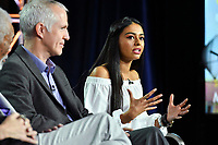 PASADENA, CA - FEBRUARY 10:  James Younger and Nelufar Hedayat attend The Story of God panel at the 2019 National Geographic portion of the Television Critics Association Winter Press Tour at The Langham Huntington Hotel on February 10, 2019 in Pasadena, California. (Photo by Vince Bucci/National Geographic/PictureGroup)