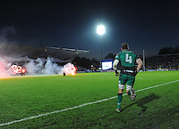 26th October 2013; Connacht captain, Michael Swift, leads his team onto the pitch. Rabodirect Pro12, Leinster v Connacht, Royal Dublin Society, Dublin. Picture credit: Tommy Grealy/actionshots.ie.