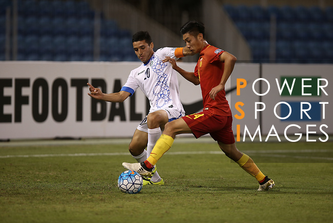 Uzbekistan vs China PR during the 2016 AFC U-19 Championship Group D match at Khalifa Sports City Stadium on 21 October 2016, in Isa Town, Bahrain. Photo by Isa Ebrahim / Lagardere Sports